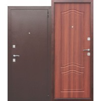 Входная дверь Dominanta Рустикальный дуб/Белый ясень/ Венге тобакко/Замок ВЕНГЕ