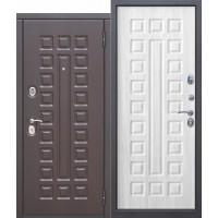 Входная металлическая дверь 10 см МОНАРХ МДФ/МДФ Венге/Белый ясень с МДФ панелями