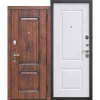 Входная дверь 9,5 см ВЕНА Vinorit Патина МДФ/МДФ Белый матовый/Грецкий орех