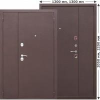 Двустворчатая входная дверь GARDA Металл/Металл