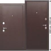 Нестандартная входная металлическая дверь GARDA mini Металл/Металл